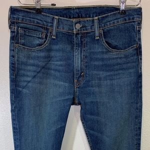 Levis 519 Extreme Skinny Blue Jeans Size 33 x 32